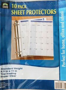 Standard Weight top Loading Sheet Protectors 10 pack