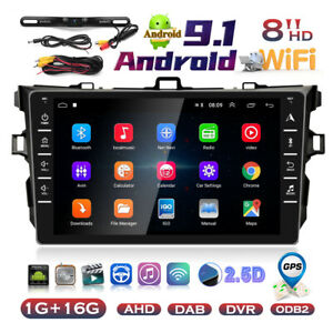 Android 9 1 Car Stereo Radio For Toyota Corolla 2006 2012 License Plate Camera
