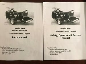 Dynamic Model 460 Cone head Brush Chipper Parts Service User Owners Manuals