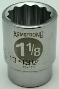 Armstrong 3 4 Drive 1 1 8 12 point Socket 13 136 Made In Usa