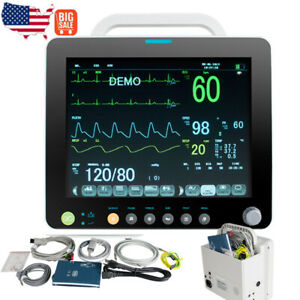 Vital Signs Patient Monitor 6parameters Ecg Spo2 Temp Nibp Pr Resp Without Etco2