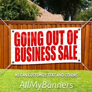 Going Out Of Business Sale Custom Vinyl Banner Sign Allmybanners