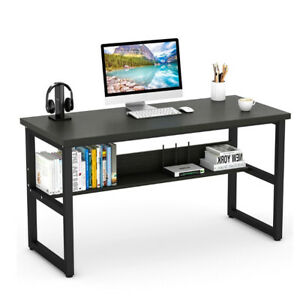 Office Table Computer Desk With Bookshelf Writing Table Home Workstation Study