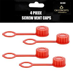 Cm Concepts Replacement Gas Can Screw Vent Caps 4 Pack