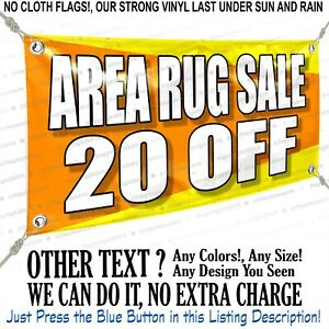 Area Rug Sale 20 Off Custom Vinyl Banner Personalized Outdoors Sign