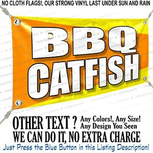 Bbq Catfish Custom Vinyl Banner Personalized Outdoors Sign