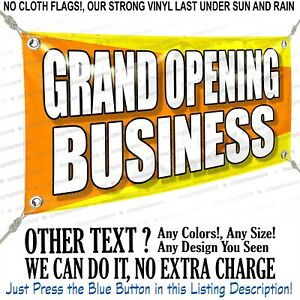 Grand Opening Business Custom Vinyl Banner Personalized Outdoors Sign