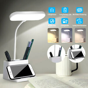 Dimmable Led Desk Lamp Table Beside Reading Light Touch Control Usb Rechargeable