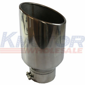 Exhaust Tip Chrome Stainless Steel 8 Outlet 5 Inlet 15 Long Bolt On Diesel