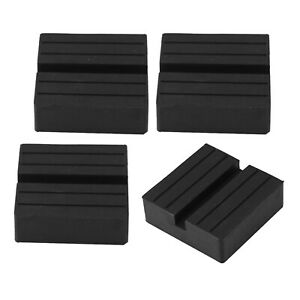 4 Pack Slotted Jacking Beam Guard Support Blocks Auto Car Scissor Lift Pads