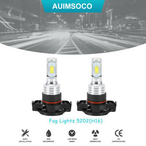 5202 H16 Led Fog Light Bulbs Drl Conversion Kit Super Bright Driving Light 8000k