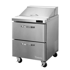 New 28 Refrigerated Sandwich Prep Table 2 Drawer Nsf Cooler Blue Air 5583