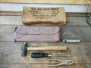 Vintage Chevy Car Truck Tool Kit 986362 1940 s 1950 s Gm Bomb Lowrider Nice