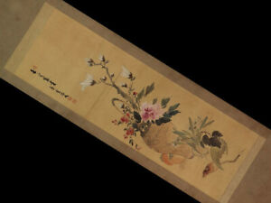 Japanese Antique Hanging Scroll Painting Komuro Suiun Tamado Tomiki