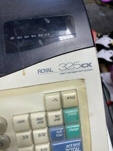 Royal 325cx Electronic Cash Register Tested Works No Key Unlocked Ready To Use
