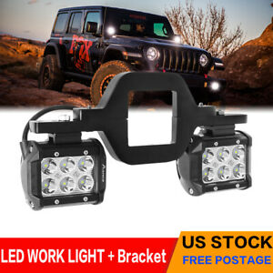 Pair 4inch 240w Led Work Light Spot Pods Driving Strip Offroad 4wd Brasket