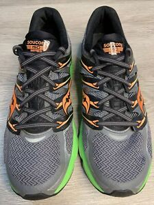 Saucony Zealot Iso Fit Powergrid Men s 11 Running Shoes Grey Slime S20269 3