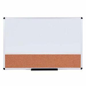 Magnetic Dry Erase Board And Cork Notice Board Combination 36 X 24 Horizontal
