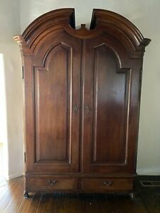 Belgian Antique Oak Vestments Wardrobe Armoire Cabinet 97 T X 69 W X 26 D