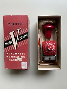 Vintage Zenith Automatic Numbering Machine Mark V Action Made In West Germany
