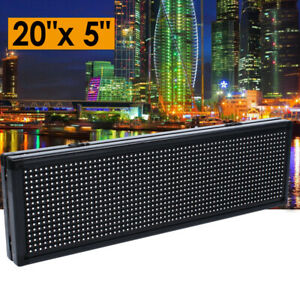 20x5 Inch Led Sign P8 Full Color Programmable Scrolling Message Display Board