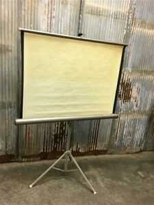 Projector Movie Screen Film Projection Screen Vintage Overhead Equipment A