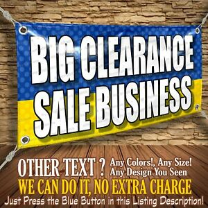 Big Clearance Sale Business Custom Banner Business Sign Allmybanners