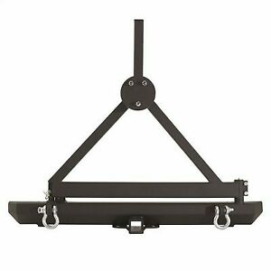 Smittybilt Classic Rock Crawler Rear Bumper And Tire Carrier With Receiver Hitch