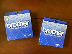 Brother Correctable Film Ribbon 7020 Black Lot Of 2