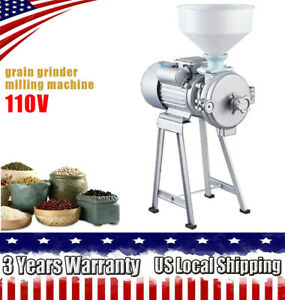9 57a Electric Grinder Machine Corn Grain Wheat Cereal Feed Wet Dry Mill funnel