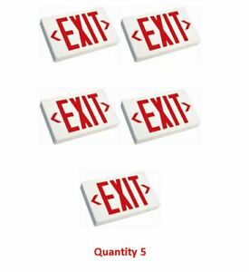 Westgate Xt rw em Emergency Exit Sign Single Or Double Face And Res Letters
