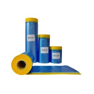 Jmi Pre Taped Masking Paper Painters Plastic Sheeting Paint Tape For Auto Body