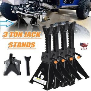 2 Pairs 6000 Lbs 3 Ton Car Jack Stand For Car Truck Tire Changing Repairing Tool
