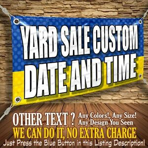 Yard Sale Custom Date And Time Custom Banner Business Sign Allmybanners