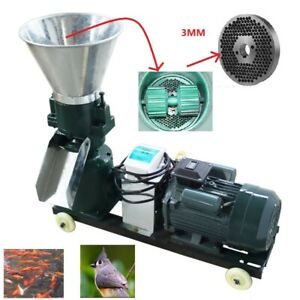 Pasture Electric Chicken Feed 3mm Pellet Mill Machine 220v For Bird Fish Pigeon
