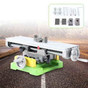 X Y axis Multifunction Mini Precision Milling Machine Bench Drill Vise Worktable