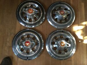 Set Of Four 1965 Buick Special Spinner Hubcaps
