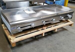 New 72 Griddle Gas Flat Top Grill 6 Nsf Stratus Smg 72 2897 Commercial Plancha