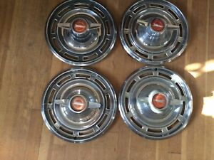 Set Of Four 1966 Buick Special Spinners Hubcaps