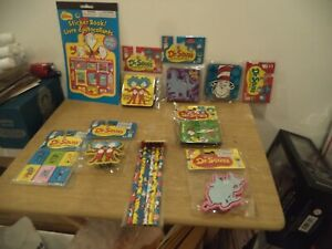 Dr seuss Mixed Lot Magnetic Whiteboard Book Eraser Pencils Stickers Sharpener