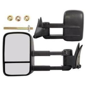 Lh Rh Manual Telescopic Towing Mirrors For 1988 2000 Chevy K2500 K3500 Truck