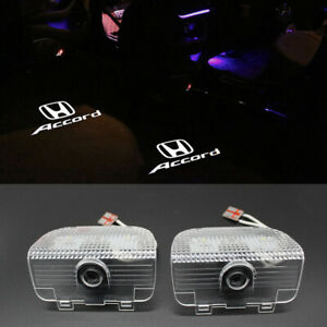 2x Car Led Door Ghost Logo Projector Puddle Lights Hd For Honda Accord 2013 2020