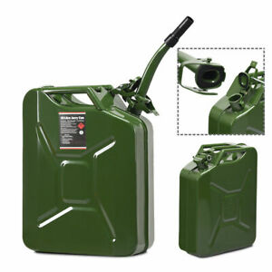 5 Gallon 20l Jerry Can Steel Gas Container Emergency Backup W Spout Green