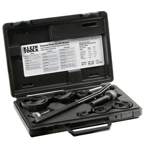Klein Tools 53732sen Knockout Punch Set Punch Down Tools With Ratchet And Case