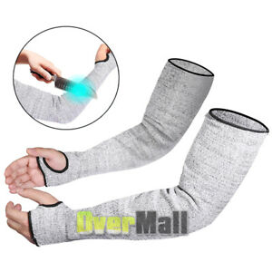 Protective Arm Sleeves Cut Proof Resistant Protectors Anti Abrasion Safety Work