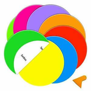Colorful Dry Erase Dots Circle Round Primary Color Removable Wall Decals 8 Pcs