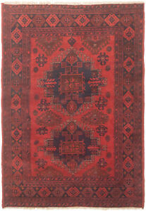 Vintage Hand Knotted Carpet 3 3 X 4 11 Traditional Oriental Wool Area Rug