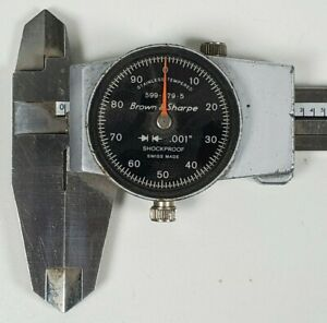 Machinist Tools Dial Calipers Brown Sharpe 599 579 5 No Crystal 6
