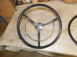 1961 Ford Nos Steering Wheel Used Horn Ring
