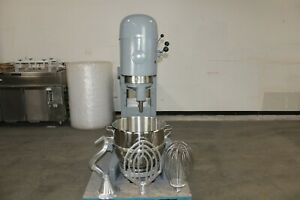 Hobart M 802 80 Qt Quart Mixer W New Whip Paddle Hook Bowl Bakery Commercial